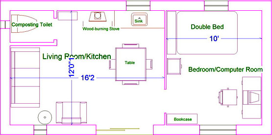 Plans for a small starter straw bale home or guest house for Straw bale house cost per square foot